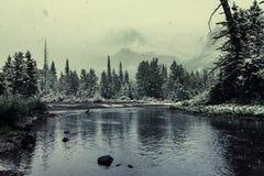 Glacier Park in winter Stock Photo
