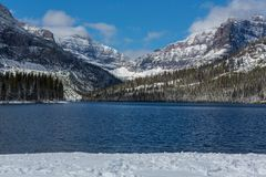 Glacier Park in winter Royalty Free Stock Photography