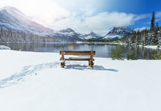 Glacier Park in winter Royalty Free Stock Photo