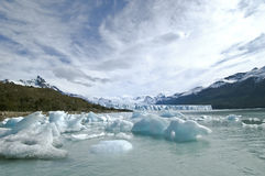 Glacier in Patagonia. Scenic glacier of Perito Moreno in Patagonia, Argentina Royalty Free Stock Photography