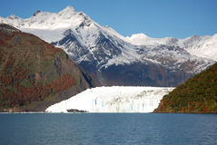 Glacier in Patagonia (Argentina) stock photography