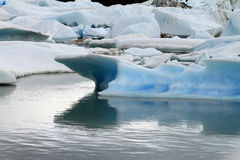 Melting Glacier. A glacier in Patagonia, South America melting into the lake Stock Images