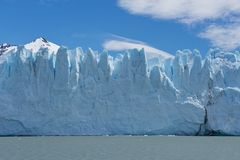 Glacier Perito Moreno. View of one of the fronts of the glacier Perito Moreno in the Los Glaciares National Park of Patagonia, facing on the Lake Argentino royalty free stock photography