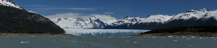 Glacier Perito Moreno. View of one of the fronts of the glacier Perito Moreno in the Los Glaciares National Park of Patagonia, facing on the Lake Argentino royalty free stock photos