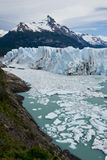 Glacier Perito Moreno. View of one of the fronts of the glacier Perito Moreno in the Los Glaciares National Park of Patagonia, facing on the Lake Argentino royalty free stock photo