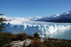 Glacier Perito Moreno. View of the front of Perito Moreno Glacier in Argentina Stock Photography
