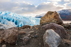 Glacier Perito Moreno, Argentina. Early morning on the glacier Perito Moreno, Argentina stock images