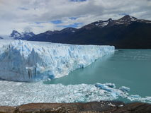 Glacier Perito Moreno, Argentina. View of Glacier Perito Moreno with mountains behind Stock Images