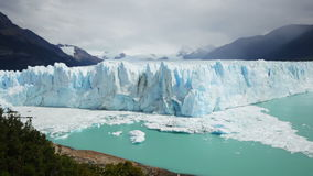 Glacier Perito Moreno Glaciar Perito Moreno, mountains and lake Argentino Lago Argentino, national park Los Glyacious. Patagon stock video