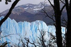 The glacier Perito Moreno. Imposing and beautiful the glacier Perito Moreno is a thick ice mass located in the department Lago Argentino of the province Santa royalty free stock photography