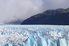 The glacier Perito Moreno. Imposing and beautiful the glacier Perito Moreno is a thick ice mass located in the department Lago Argentino of the province Santa royalty free stock photos