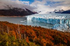 Glacier Perito Moreno National Park in autumn. Argentina, Patagonia royalty free stock photography