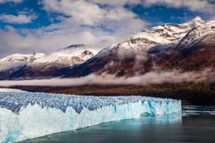 Glacier Perito Moreno National Park in autumn. Argentina, Patagonia.  royalty free stock photography