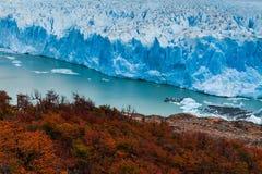 Glacier Perito Moreno National Park in autumn. Argentina, Patagonia.  Royalty Free Stock Photos