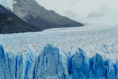 Glacier Perito Moreno in the park Los Glaciares. Autumn in Patagonia, the Argentine side.  stock photography