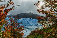 Glacier Perito Moreno in the park Los Glaciares. Autumn in Patagonia, the Argentine side royalty free stock photos