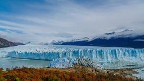 Glacier Perito Moreno in the park Los Glaciares. Autumn in Patagonia, the Argentine side.  stock video