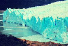 Glacier Perito Moreno, southeast of Argentina. View of glacier Perito Moreno Glaciar Perito Moreno located in national park Los Glyacious. Patagonia, Argentina royalty free stock images