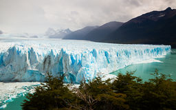Glacier Perito Moreno, southeast of Argentina. View of glacier Perito Moreno Glaciar Perito Moreno located in national park Los Glyacious. Patagonia, Argentina royalty free stock photography