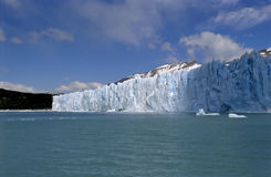 Glacier Perito Moreno sun and shadow Royalty Free Stock Photography