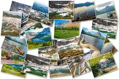 Glacier pictures collage Royalty Free Stock Images