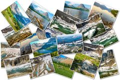 Glacier pictures collage Royalty Free Stock Photography