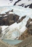 Glacier Piedras Blancas avec un lac image stock