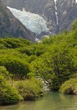 Glacier Piedras Blancas at the Los Glaciares National Park, Argentina. It is near a Mount Fitz Roy among the most technically challenging mountains for Stock Photography