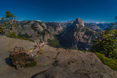 Glacier Point at Night Yosemite National Park Royalty Free Stock Images