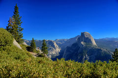 Glacier Point overlook view and Half Dome Royalty Free Stock Photo