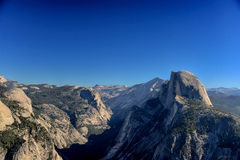 Glacier Point overlook view and Half Dome Stock Image