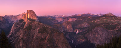 Glacier point at sunset Royalty Free Stock Photos