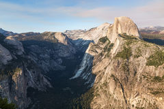 Glacier Point at sunset in Yosemite National Park, California, USA. Stock Images