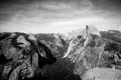 Glacier Point view of Half Dome. Captured on a spring day in Yosemite National Park, glacier point was reopened and I was able to capture this picture of half Royalty Free Stock Images