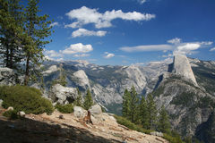 Glacier Point at the Yosemite National Park Royalty Free Stock Image