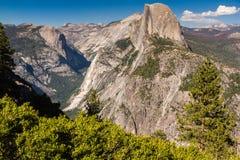 Glacier Point, Yosemite National Park, California, USA. Daytime, color, landscape photo of Glacier Point in Yosemite National Park, California, USA. Golden light Stock Photo