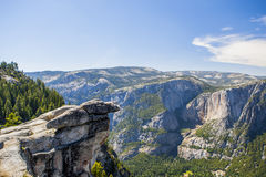 Glacier Point in Yosemite National Park, California, USA. Panoramic view from Glacier Point over Yosemite Valley. Yosemite Valley is a glacial valley in Yosemite Royalty Free Stock Photos
