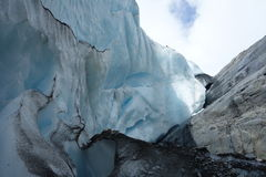 A glacier in the process of receding. Royalty Free Stock Photography