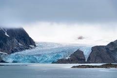 Glacier Raudfjord, Spitsbergen island, Svalbard, Norway at summer.  stock photos