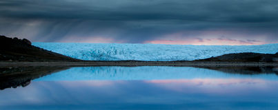 Glacier reflection, Greenland Stock Images