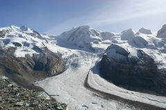 Glacier in region Zermatt Royalty Free Stock Photography