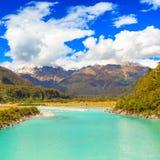 Glacier river. Westland Tai Poutini National Park Royalty Free Stock Image