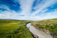 Glacier river Stock Photo
