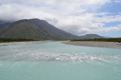 Glacier river in New Zealand Stock Images