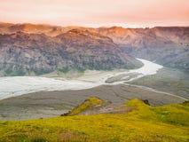 Glacier river in Skaftafell National Park Royalty Free Stock Photos