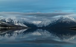 A Winter in Glacier National Park Stock Photography