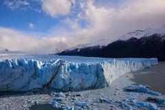 Glacier and rock Royalty Free Stock Images