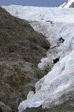 Glacier's Edge. Portage Glacier slowly cuts its way through the Chugach Mountains in Alaska Royalty Free Stock Photos
