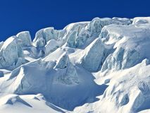 Glacier Saas-Fee Stock Images