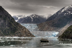 Glacier scene. HDR image taken in Tracy Arm, Alaska Stock Photos